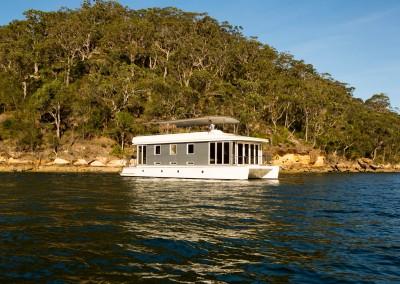 Solar electric boat side