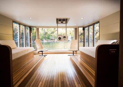 Solar electric boat controls
