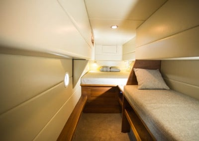 Solar electric boat aft cabin